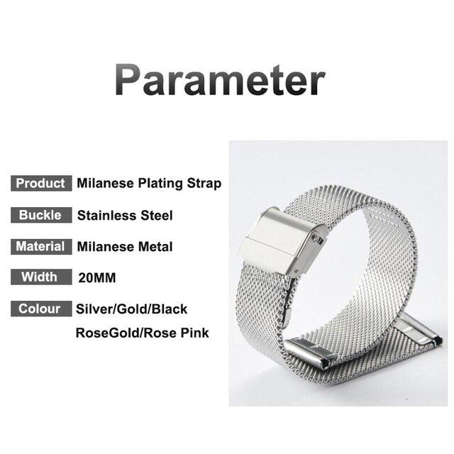 Garmin Vivoactive 3 4 4S Strap Milanese Metal Watch Band For Garmin Accessoires Forerunner 245/645 Vivomove Venu 2 2S Bracelet 6