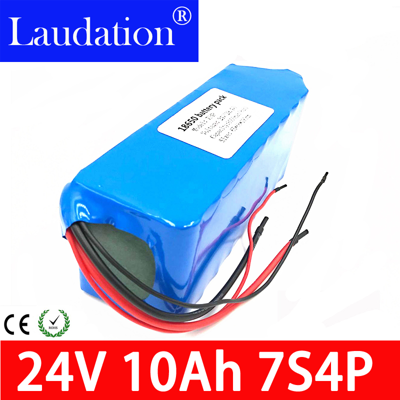24v battery pack 24V <font><b>10Ah</b></font> Electric bicycle Lithium Ion Battery <font><b>29.4V</b></font> <font><b>10Ah</b></font> 15A BMS 250W 350W 18650 Battery Pack Wheelchair Motor image