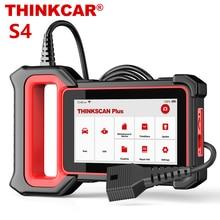 جهاز مسح احترافي من THINKCAR طراز thinkecast Plus S4 مزود بماسح ضوئي OBD2 مع خاصية ABS SRS ECM TCM BCM مزود بزيت EPB DPF TPMS أدوات تشخيص السيارات لإعادة الضبط