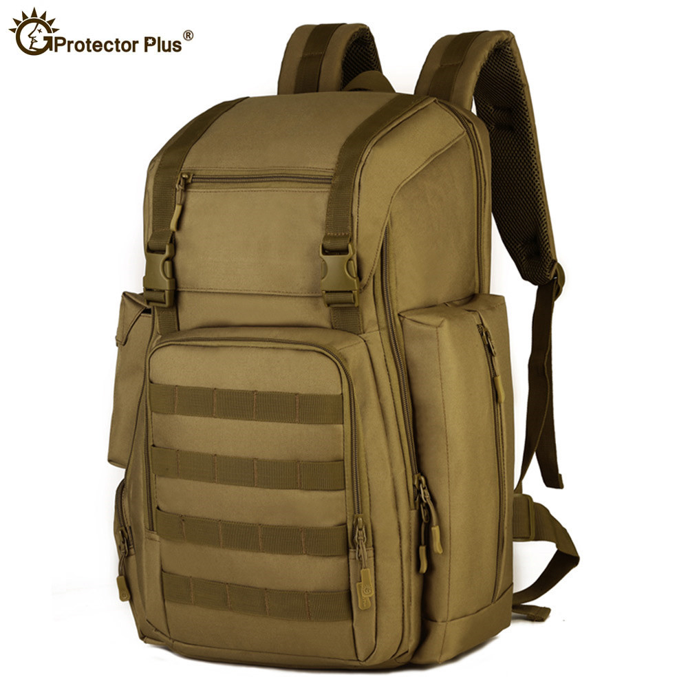 40L Man Tactical Backpack Army Military Assault Pack 17 Inches Laptop Waterproof Nylon Molle System for Camping Hiking Climbing