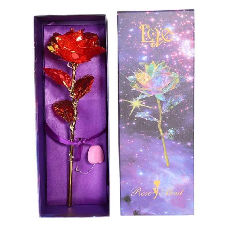 רב צבעים יצירתיים חג האהבה מתנה 24K רדיד מצופה עלה זהב עלה נמשך חתונה דקור מאהב תאורה עלה זרוק חינם