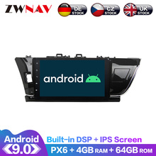 Android 9 IPS Screen PX6 DSP For Toyota Corolla 2012 2013 2014 - 2016 No Car DVD Player GPS Multimedia Player Radio Audio Stereo android 8 1 9 7 ips dsp car gps multimedia navigation radio video audio player system for honda cr v crv 2012 2016 no car dvd