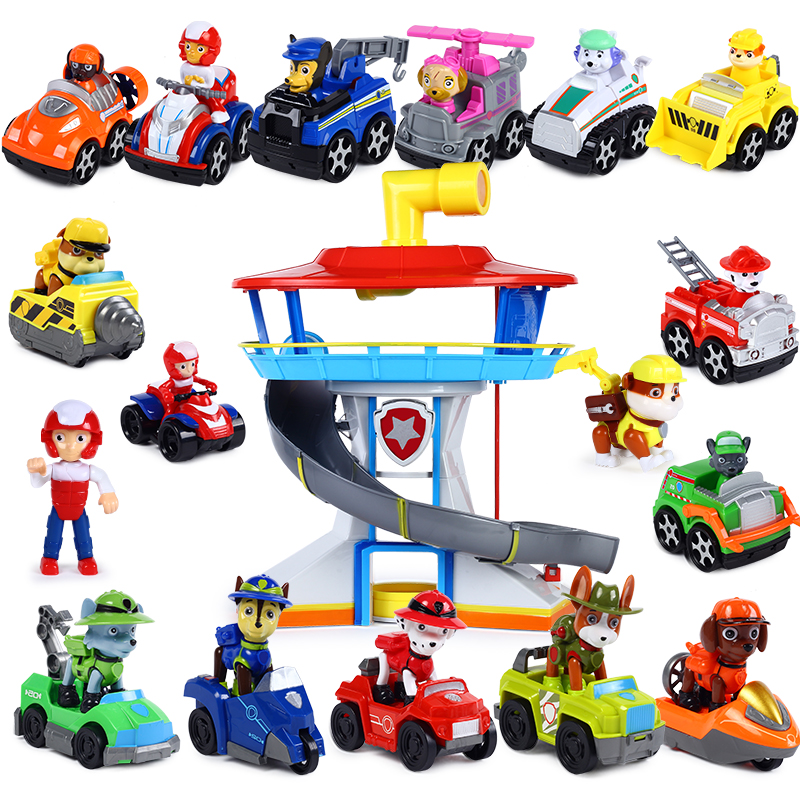 6/7/9pcs Paw Patrol Birthday Lot Juguetes Dog Back Car Psi Patrol Action Figure Patrulha Canina Plastics Toy Anime Kids Gift Toy