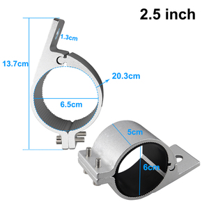 Image 5 - 2 2.5  Bull Bar Mounting Bracket Clamps Kit for Offroad Work Light Led Bar Driving Car Lights Clip Holder