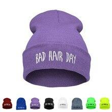 Chapéu unissex, chapéu tipo hip hop, para o inverno, com cabelo mau