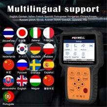 Foxwell nt650 elite obd2 automotivo scanner suporte abs airbag sas epb dpf óleo serviço de restauração