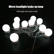 5V 3 Modes Colors LED Makeup Mirror Light Stepless Dimming V