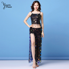Belly Dance Set New Sequins Sling Drawstring Clothing Sexy Hip Scarf Practice Clothes Performance Costume