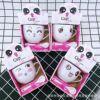 Cute Cat Ceramics Coffee Mug Set with Saucer 3d Animals Cute Ceramic Mug Coffee Cups with Lids Set Couple Gift Kawaii Mug