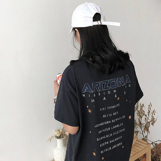 Lato okrągły dekolt druku retro koszulka z krótkim rękawem damska ropa mujer t shirt koszulka harajuku gothic vintage przyjaciółmi
