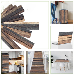 7 pcs / Set Wood Grain Floor T