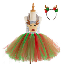 Girls Reindeer Costume Cosplay Kids Dress Halloween Costume For Kids Carnival Christmas Party Dress Up Suit цена и фото