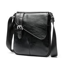 Men bag 2019 new fashion england style crossbody leather messenger men vintage casual shoulder bags zipper man handbags