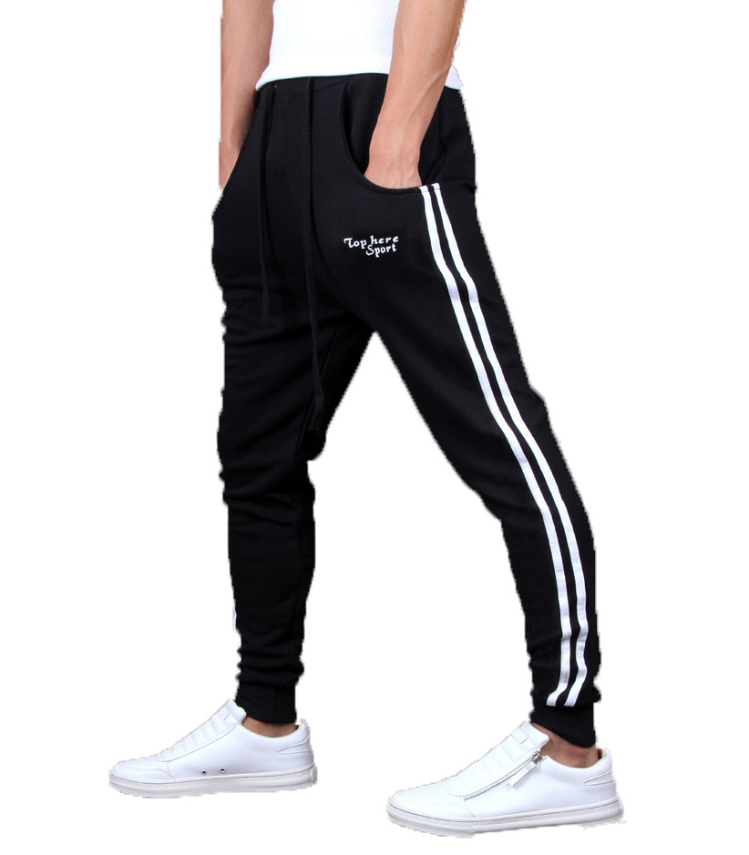 Fashion Printed Letters Pencil Pants Men Casual Pants Spring Splice Side Striped Sweatpants Workout Trousers Jogger Track Pants