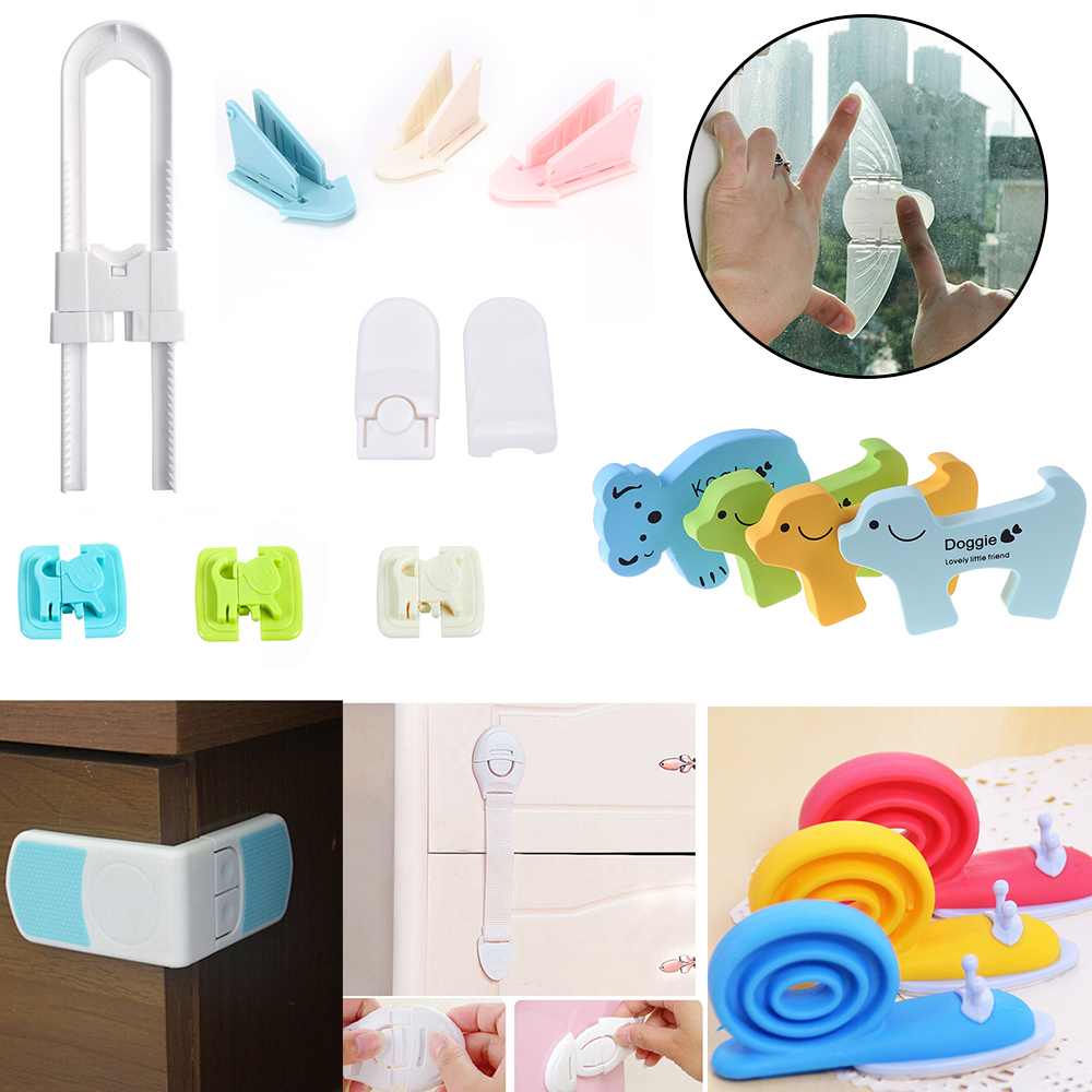 1PCS Children Safety Child Lock Child Safe Locks Easy Kids Baby Safety Security Sliding Window Locks For Push-Pull Door