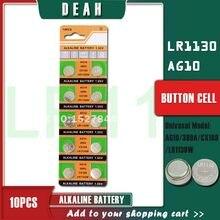 DEAH 10 sztuk 1.55V AG10 LR1130 alkaliczna bateria moneta AG 10 SR54 189 389 SR1130 L1131 G10A baterie guzikowe do zegarków zabawki