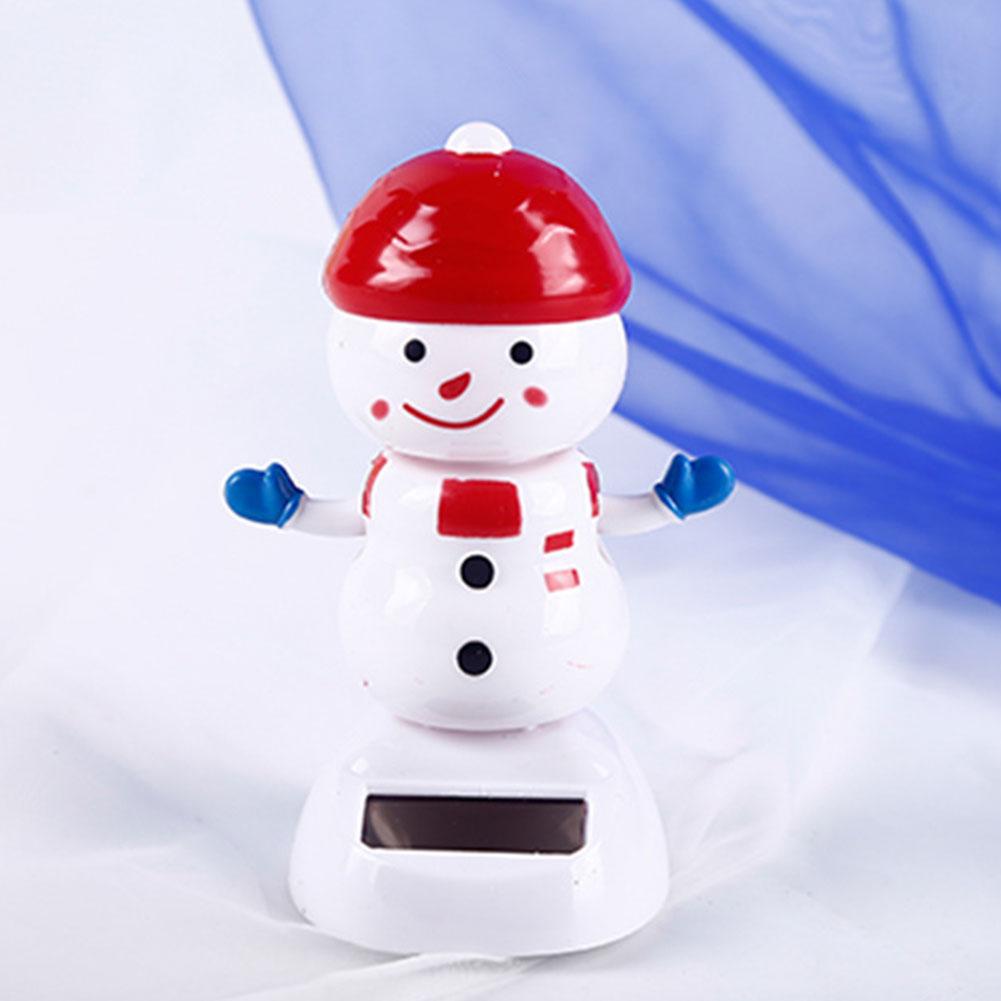 Пластиковый Солнечный снеговик, Рождественская машина, детские игрушки, хобби, игра для дома, милая Подарочная игрушка, декоративная подвесная Рождественская елка, поставка на Рождество - Цвет: NO.3
