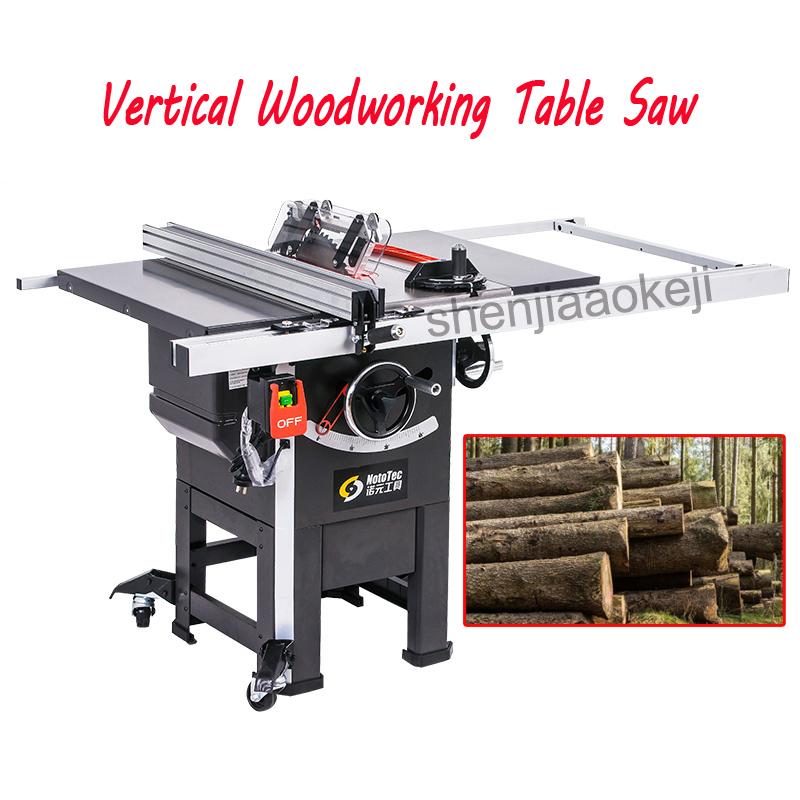 1PC 10 Inch Professional Grade Vertical Woodworking Table Saw Machine 1500KW Joiner Table Saw With Mover Panel Sawing Machine
