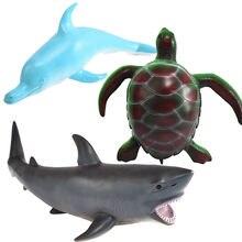 55 см Дельфин Акула зеленая черепаха мягкие морской рисунок