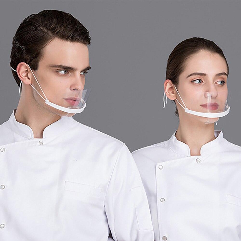 Saliva Catering Special Plastic Anti-Fog Ventilative Chef Masks Clear Mask  Kitchen Restaurant Chef Masks Transparent Mask