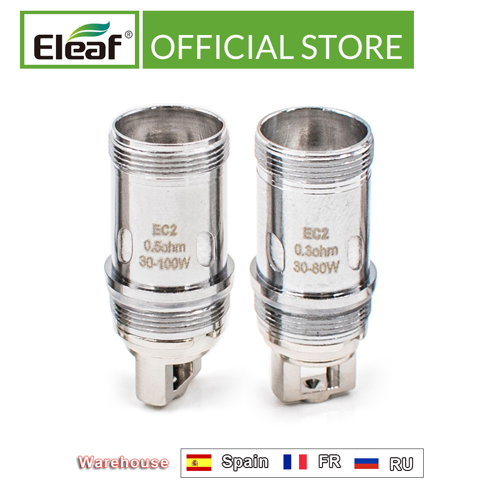 Original Eleaf <font><b>EC2</b></font> 0.3ohm/<font><b>0.5ohm</b></font> Head fit for Eleaf iKuu i200 and Melo 4 atomizer <font><b>EC2</b></font> Coil electronic cigarette image