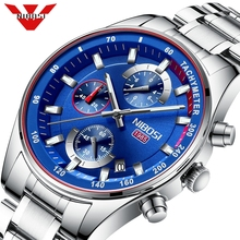 NIBOSI Blue Watch Men Fashion Sport Quartz Clock Mens Watches Top Brand Luxury Chronograph Waterproof Watch Relogio Masculino