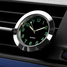 Mini Car Clock Universal Auto Gauge Clock with Clip Car Styling Auto Air Vent Outlet Quartz Clock with Fluorescence Function