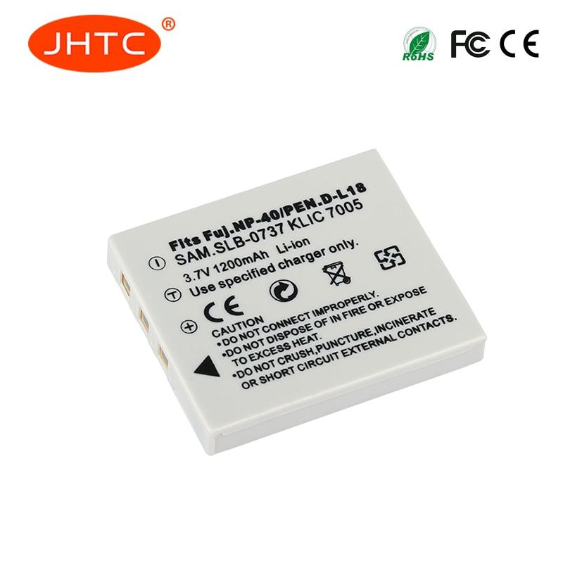 NP 40 Battery 1200mAh For BENQ DLI-102 FUJIFILM NP-40 NP-40N KODAK KLIC-7005 PENTAX D-LI8 D-Li85 SLB-0737 Batteries NP40N