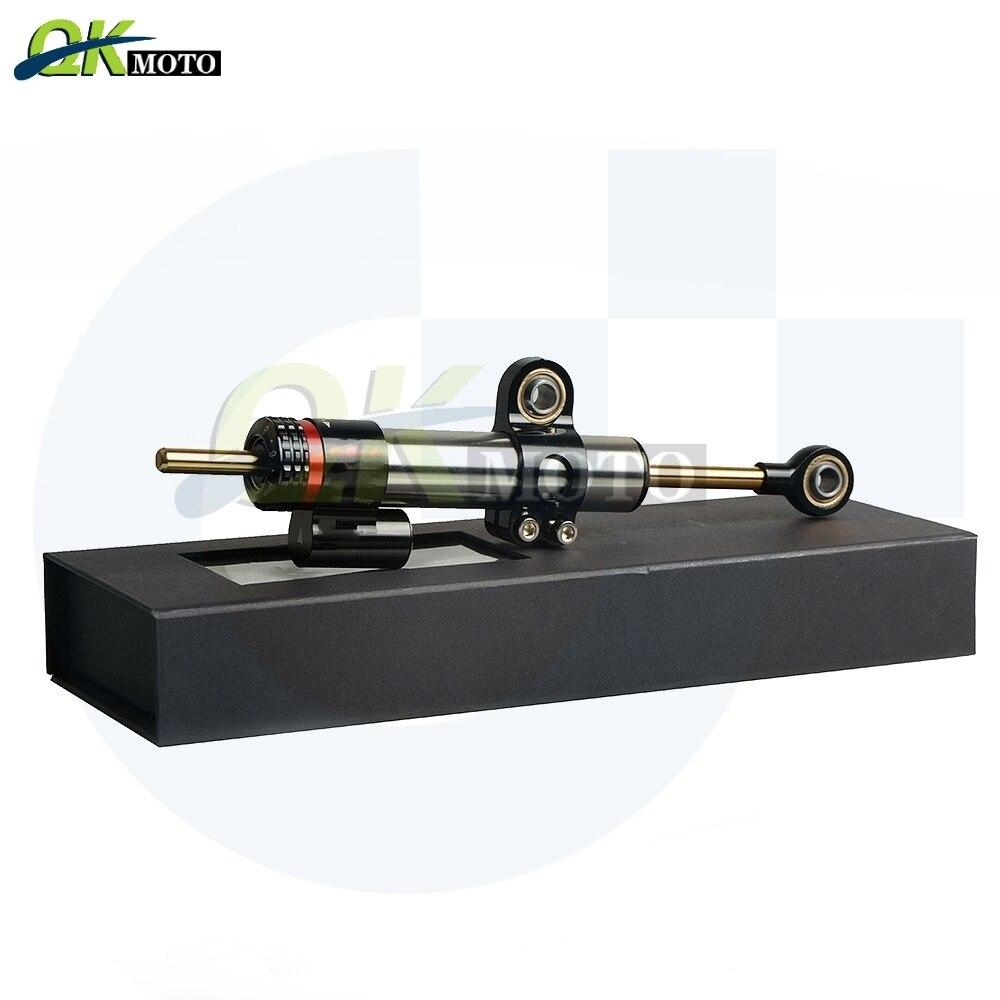 Avec Logo moto CNC accessoires en aluminium stabilisateur amortisseur complet pour Yamaha FZ1 XJR1300 MT-07 contrôle de sécurité linéaire