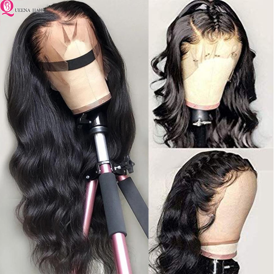 Transparent Lace Front Human Hair Wigs 13X6 Glueless Lace Wigs Body Wave Wig Natural Remy Brazilian Lace Front Wig Pre Plucked