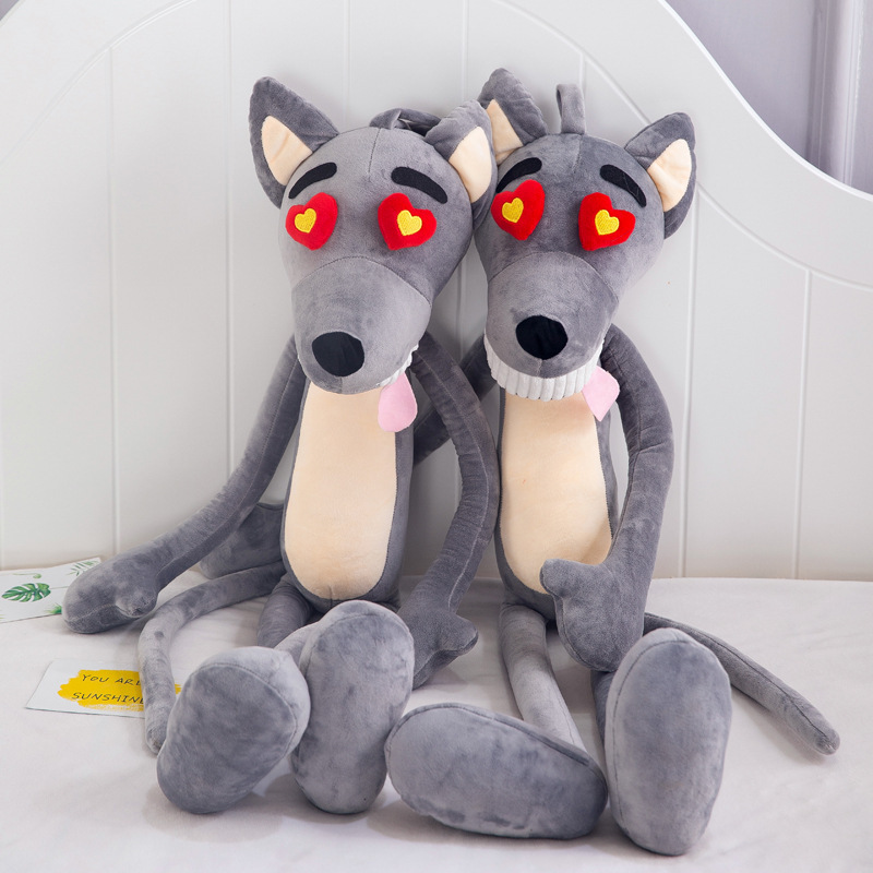 65cm Cute Wolf Heart Eye Plush Toy Doll Stuffed Soft Animal Cartoon Pillow Lovely Plush For Kids Kawaii Valentine Birthday Gift