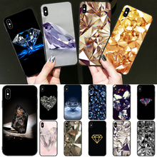 Reayou Crystal Diamond design DIY Painted Bling Phone Case for iPhone 11 pro XS MAX 8 7 6 6S Plus X 5 5S SE XR cover(China)