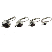 10pcs/lot Earring Hook DIY Jewelry Findings Stainless Steel Blank French Lever Earring Clasp Cabochon Setting Cameo Base Jewelry