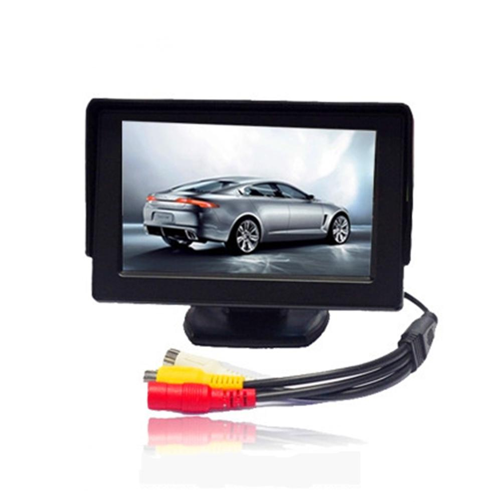 HiMISS 4.3 Inch HD Rearview Mirror Screen Button Control 2 Way AV Input LCD Display title=