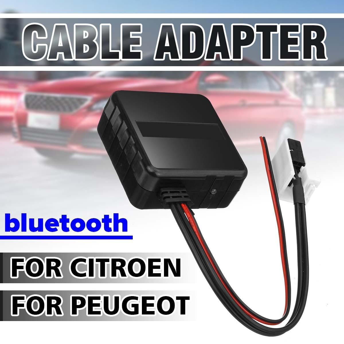Otomobiller ve Motosikletler'ten Bluetooth Araç Kiti'de Araba bluetooth modülü Aux alıcı kablosu kablosuz HIFI müzik çalar Citroen C2 2005 C5 RD45 için Peugeot 307 radyo medya