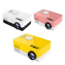 Mini projetor portátil j15, novo mini projetor 1080p com suporte a 23 idiomas, cartão sd, usb, portátil, de bolso, para casa beamer pk j9