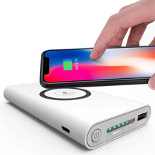 10000mAh Universal Portable Power Bank Qi Wireless Charger For iPhone Samsung S6