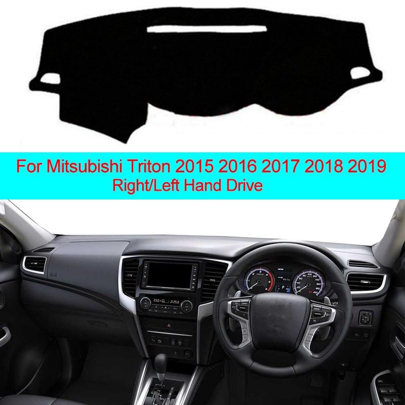 2 Layers Car Dashboard Cover Carpet Cape For Mitsubishi Triton 2015 2016 2017 2018 2019 LHD RHD Auto Sun Shade Dash Board Cover