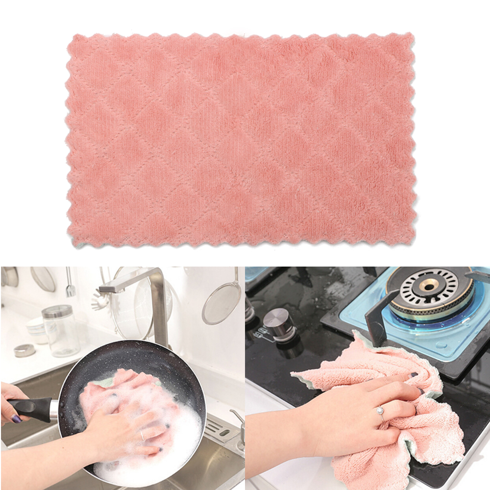 Super Absorbent Microfiber Kitchen Tableware Dish Cloth Wipe Table Washing Towel Household Cleaning Cloth kitchen Tools Gadgets