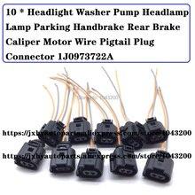 1J0973722A far yıkama pompası far lambası el freni el freni arka fren kalİper motoru tel Pigtail fiş konnektörü