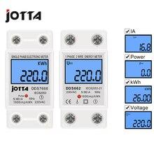 Energy-Meter Wattmeter Power-Consumption-Meter Din Rail Electronic Single-Phase Digital-Backlight