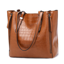 2019 Fashion Women Handbags Big Capacity Tote Bags Leather Alligator Pattern Shoulder