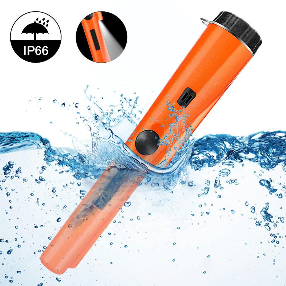 Handheld Metal Detector IP66 Waterproof PinPointer Portable High Sensitivity 360° Metal Pointer With LED Indicator 45JP13