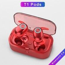 Новинка T1 Pods TWS Bluetooth наушники стерео низкая мощность беспроводные наушники мини Музыкальная гарнитура игровая гарнитура Портативная зарядка коробка