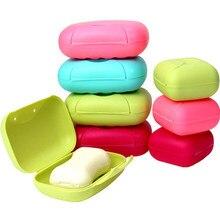 Caixa de sabão de viagem de plástico placa de prato caso titular recipiente de lavagem chuveiro casa banho chuveiro selado caso de sabão