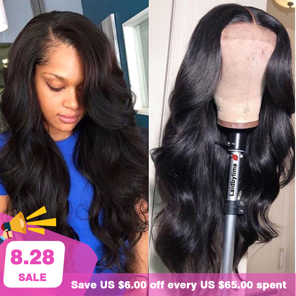 180% 250% Lace Front Human Hair Wigs 13X4 Pre Plucked Non Remy Brazilian Body Wave Lace Front Wig With Baby Hair For Black Women