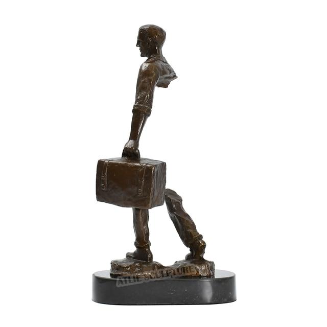 Famous Bruno Catalano Bronze Traveller Statue Sculpture 3