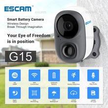 Escam g15 1080p hd cheio de reconhecimento ia bateria recarregável pir alarme armazenamento em nuvem câmera wi-fi ao ar livre