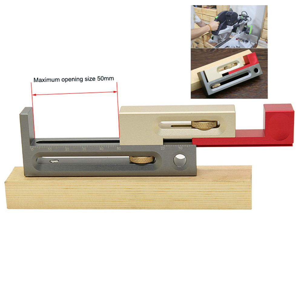 Table Saw Slot Adjuster Mortise And Tenon Tool Movable Measuring Tenon Maker Length Compensation Router Table Set Up Woodworkin