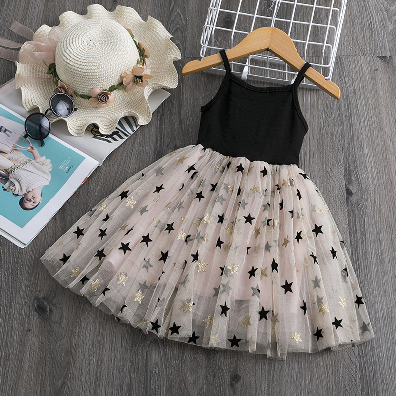 Kids Dresses For Girls Party Dress Sling Spring Children Clothing Casual Wear Little Princess Girl Clotehs Baby Party Dress Girl 1